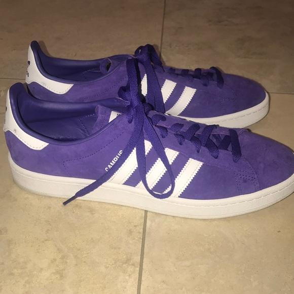 Adidas zapatos nuevo campus Suede 3 stripepurple poshmark tamaño 11